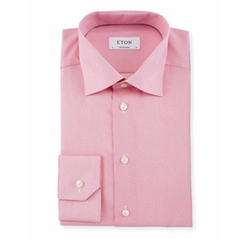 Eton - Chain-Stitch Print Dress Shirt