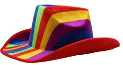 RINCO - Rainbow Stripe Multi-Color Cowboy Hats