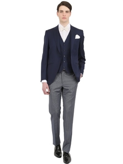 Canali - Wool Jacquard Half Tight Suit