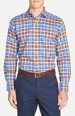 Maker & Company  - Tailored Fit Check Sport Shirt