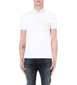 Diesel  - T-Bleach Cotton-Piqué Polo Shirt