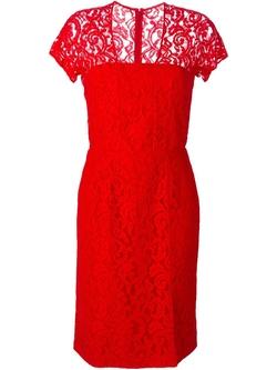 Carven - Square Neck Lace Dress