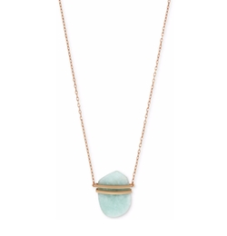 Vince Camuto - Rose Gold-Tone Stone Pendant Necklace