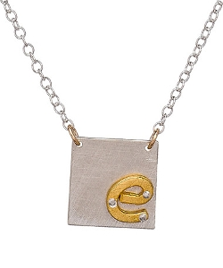 Zina Kao Exclusives  - Small Square Initial Pendant