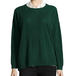 Hayden - Pointelle Cable Cashmere Sweater