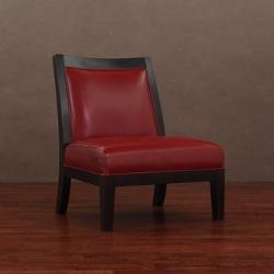 Connor  - Burnt Red Leather Chair