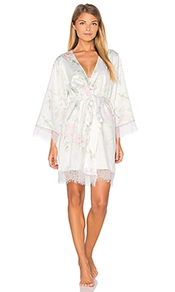 Homebodii  - Sophia Lace Trim Robe
