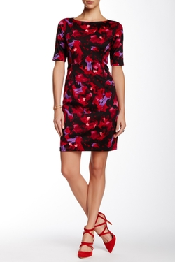 Maggy London - Ponte Floral Sheath Dress