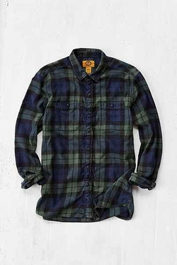 Urban Outfitters - Stapleford Black Watch Plaid FlannelShirt