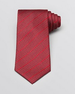 Yves Saint Laurent - Stripe Micro Dot Classic Tie