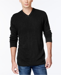 Tricots St Raphael - Textured V-Neck Sweater