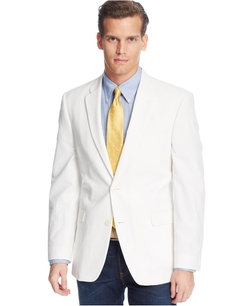 Tommy Hilfiger - Trim-Fit White Seersucker Sport Coat
