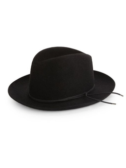 Barbisio  - Felted Rabbit Wide-Brim Fedora Hat
