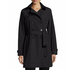 Jane Post - Belted Tech-Fabric Trenchcoat