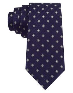 Black Brown 1826  - Silk Square Print Tie
