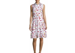 Peonie - Audrey Sleeveless Floral-Print Shirtdress