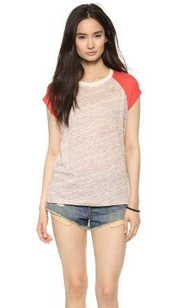 Madewell  - Linen Ringer Muscle Tee