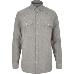 River Island - Stripe Twill Two Pocket Shirt