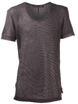 KLASICA  - open knit t-shirt