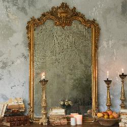 Layla Grayce - Eloquence One Of A Kind Antique Mirror Seashell Warm Gilt