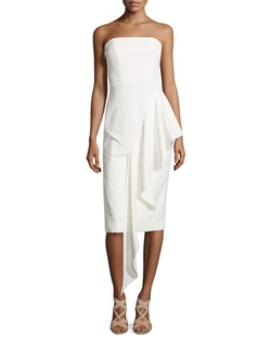 Milly - Strapless Cascading Ruffle Dress