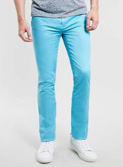 Topman - Bright Blue Ultra Skinny Trousers