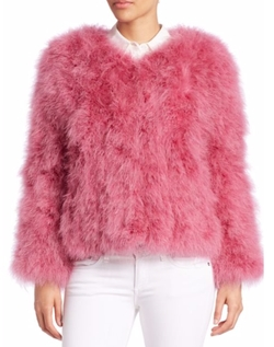 Pello Bello - Fluffy Fur Fever Feather Jacket