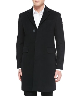 Burberry London	  - Single-Breasted Wool/Cashmere Coat