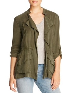 Cupcakes And Cashmere  - Alexander Draped Army Jacket