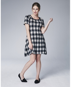 Simply Be - Check Knitted Dress