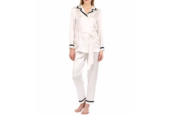 Loretta Caponi   - Silk Satin Pajama Top & Pants