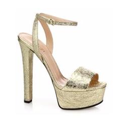 Gucci - Leila Metallic Leather Platform Sandals