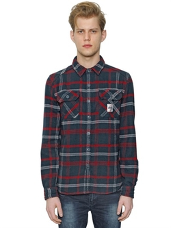 Superdry - Plaid Cotton Flannel Shirt