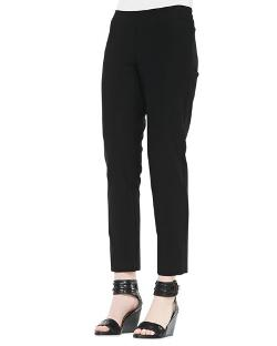 Eileen Fisher - Washable Stretch-Crepe Ankle Pants