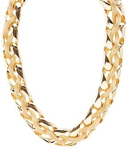 Charlotte Russe - Chain And Mesh Chocker Necklace