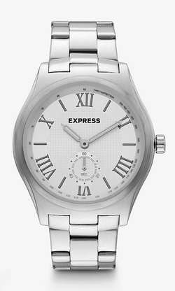 Express - Analog Stainless Steel Bracelet Watch