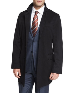 Ermenegildo Zegna  - Cashmere-Blend Long Car Coat