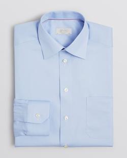 Eton - Solid Herringbone Dress Shirt