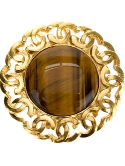 Chanel Vintage - Stone Centre Brooch