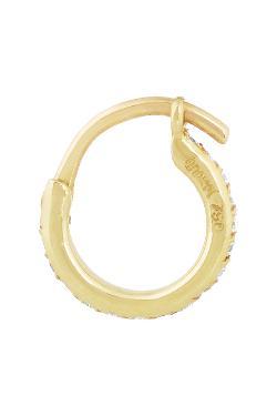 Ileana Makri  - 18-karat Gold Diamond Hoop Earrings