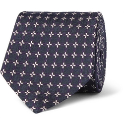 Etro   - Patterned Woven Silk Tie