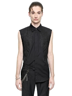 Christian Dada - Embroidered Cotton Poplin Shirt