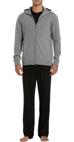 Barneys New York  - Cashmere Zip-Up Hoodie