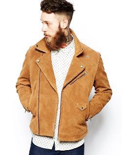 ASOS  - Suede Biker Jacket