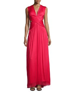 Catherine Deane   - Sylver Crisscross Cutout Gown