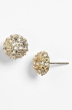 BP. Rachel Rhinestone  - Dome Stud Earrings