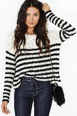 Nasty Gal - Earned Stripes Knit
