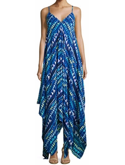 Karina Grimaldi - Irene Sleeveless Geometric-Print Dress