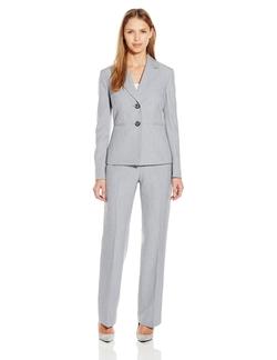 Le Suit - Mini Herringbone Two Button Pant Suit