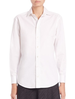 Ralph Lauren Collection  - Charmain Cotton Button-Down Shirt
